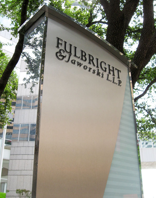 Fullbright Tower exterior sign