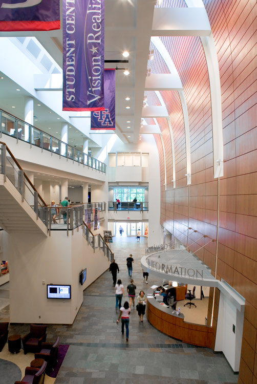 Stephen F Austin Student Center Banners And Information